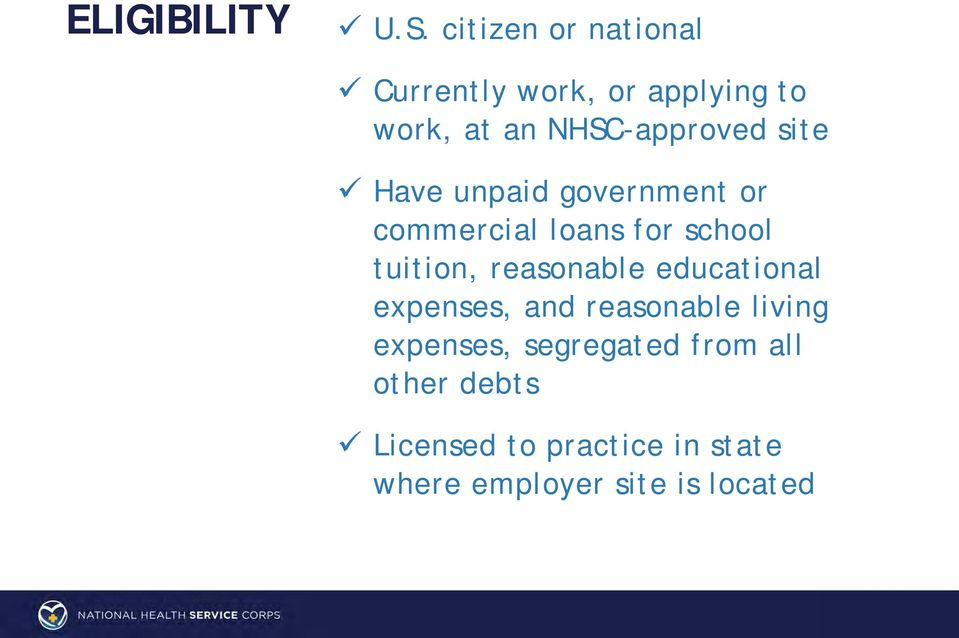 site Have unpaid government or commercial loans for school tuition, reasonable