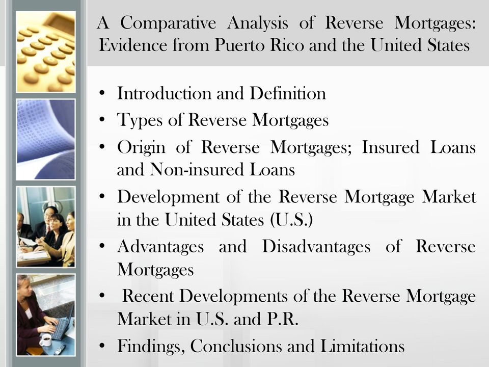 Development of the Reverse Mortgage Market in the United St