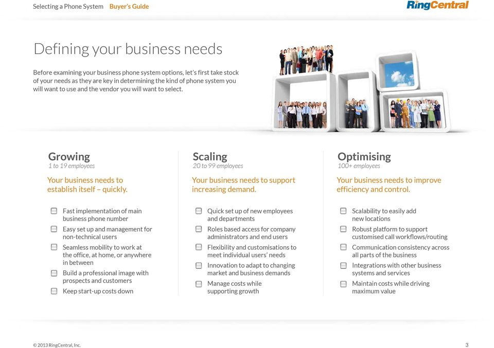 Optimising 100+ employees Your business needs to improve efficiency and control.