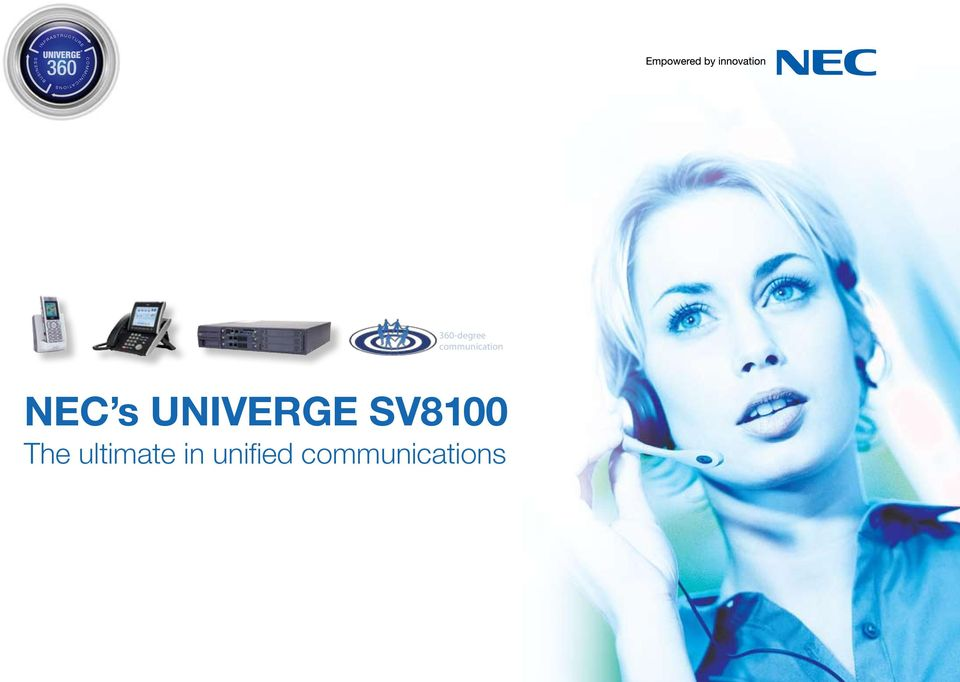 UNIVERGE SV8100 The