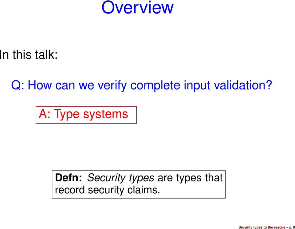 verify complete input validation?