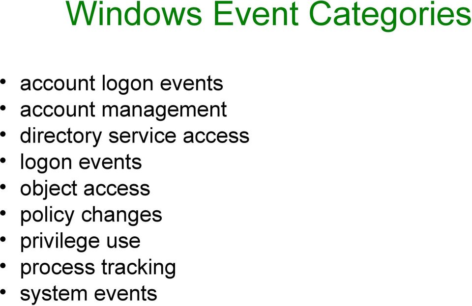 access logon events object access policy
