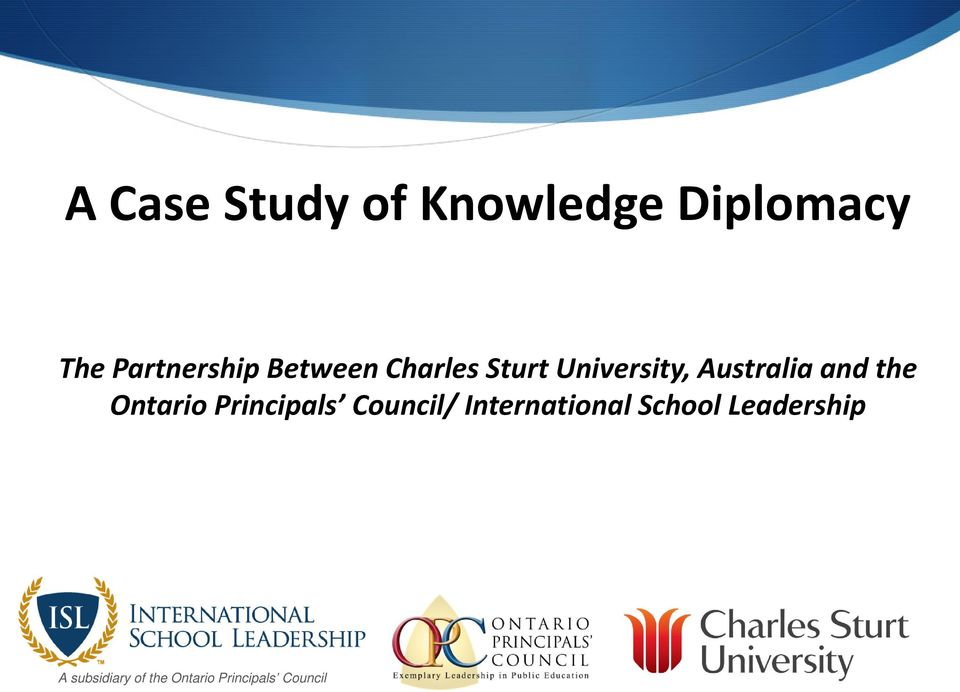 Ontario Principals Council/ International School