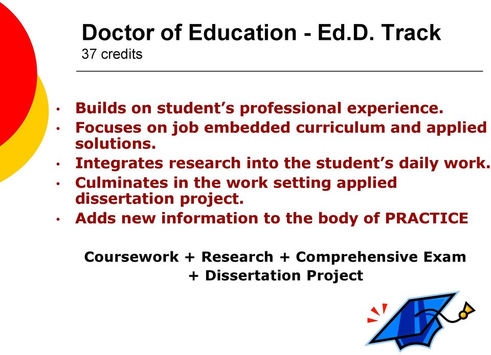 Integrates research into the student s daily work.