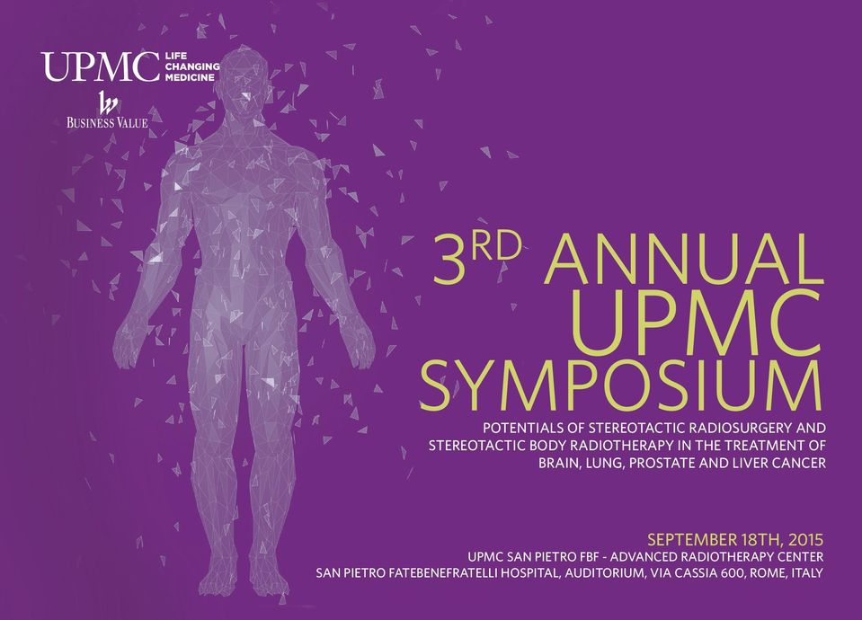 PROSTATE AND LIVER CANCER SEPTEMBER 18TH, 2015 UPMC SAN PIETRO FBF - ADVANCED