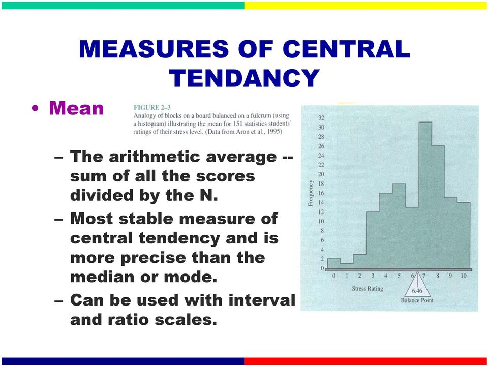 Most stable measure of central tendency and is more