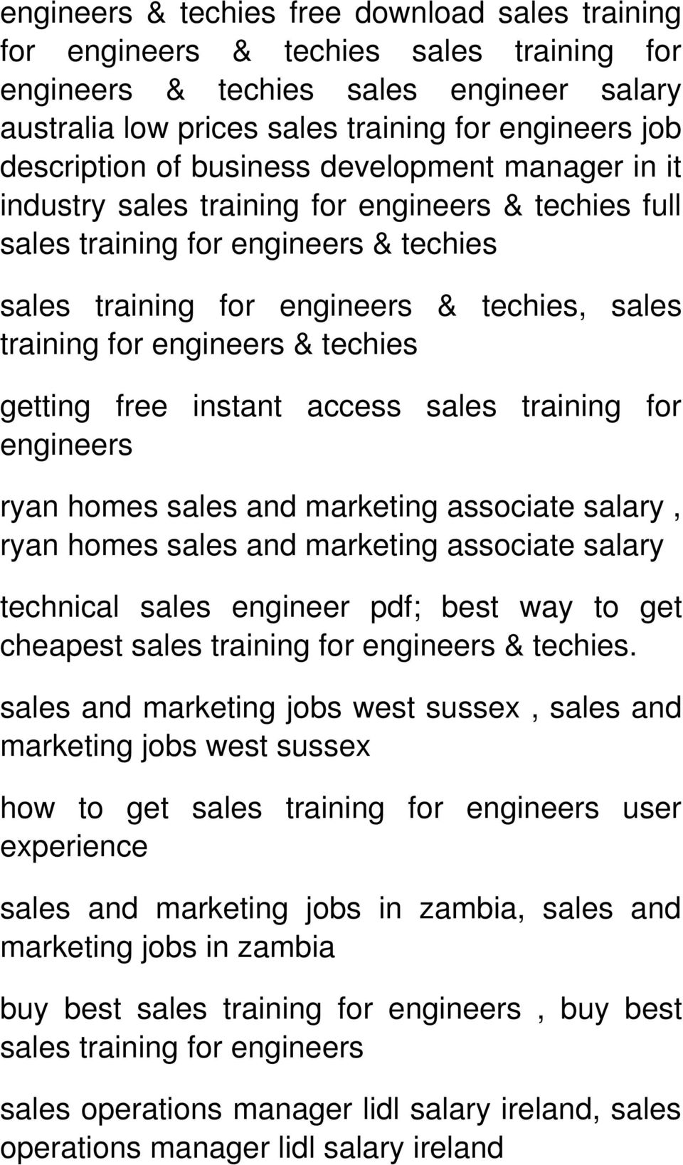 associate salary, ryan homes sales and marketing associate salary technical sales engineer pdf; best way to get cheapest sales & techies.