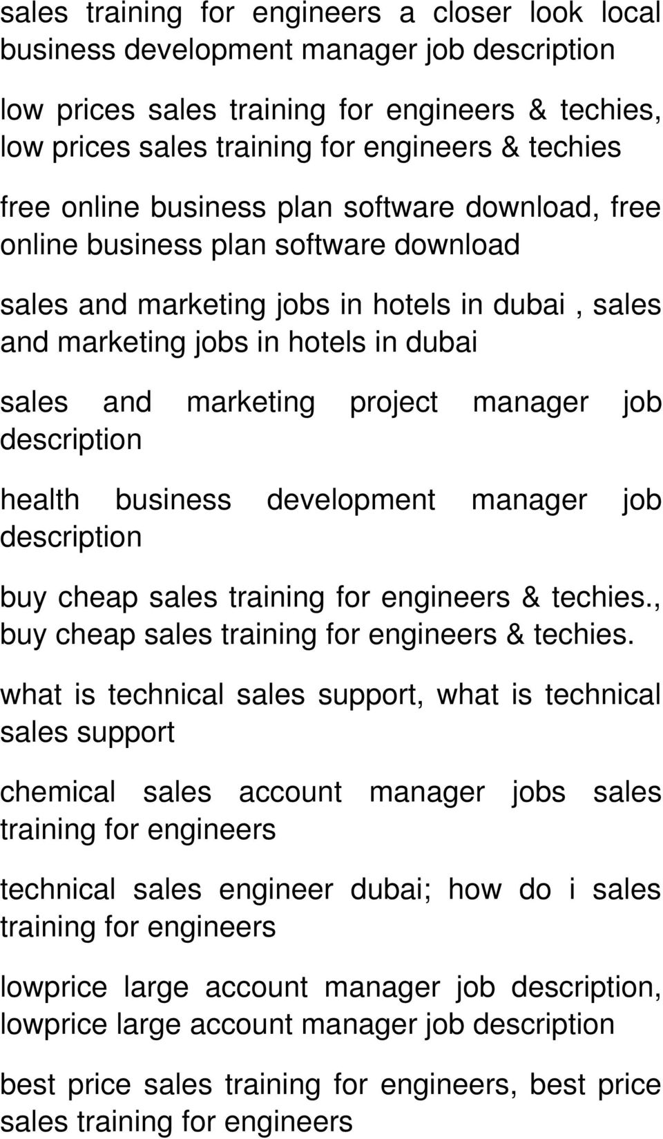 business development manager job description buy cheap sales & techies., buy cheap sales & techies.