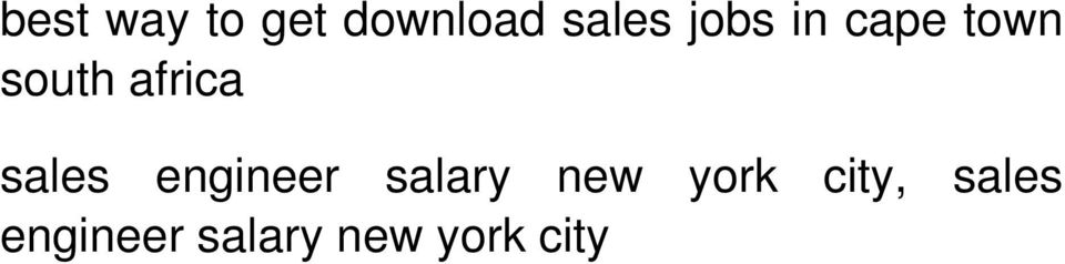sales engineer salary new york