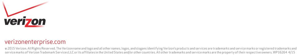 services are trademarks and service marks or registered trademarks and service marks of Verizon Trademark