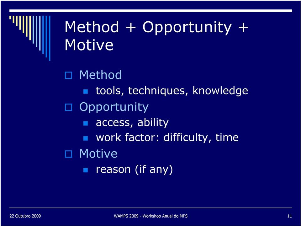 ability work factor: difficulty, time Motive