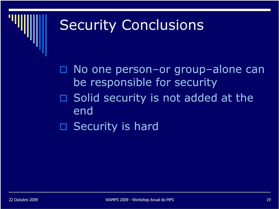 security is not added at the end Security