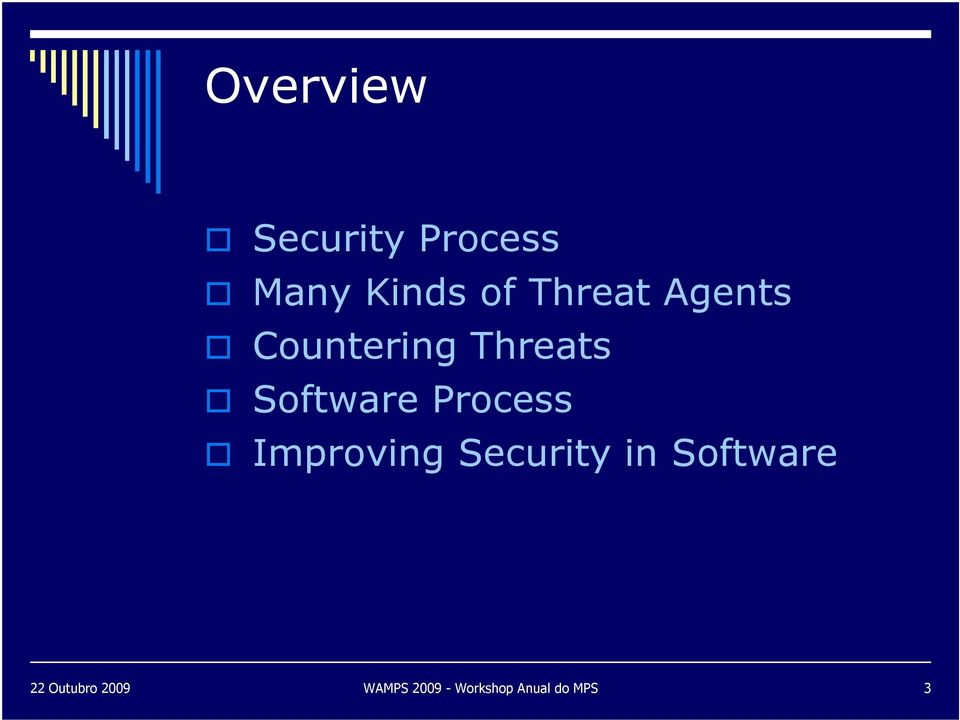 Software Process Improving Security in
