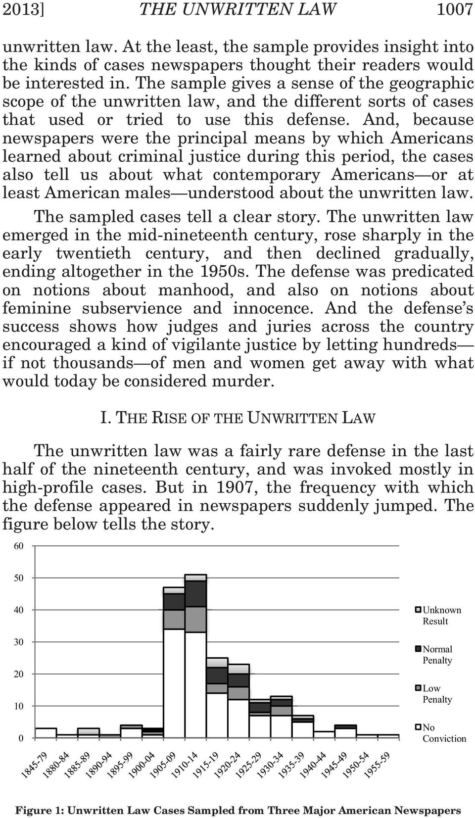 And, because newspapers were the principal means by which Americans learned about criminal justice during this period, the cases also tell us about what contemporary Americans or at least American