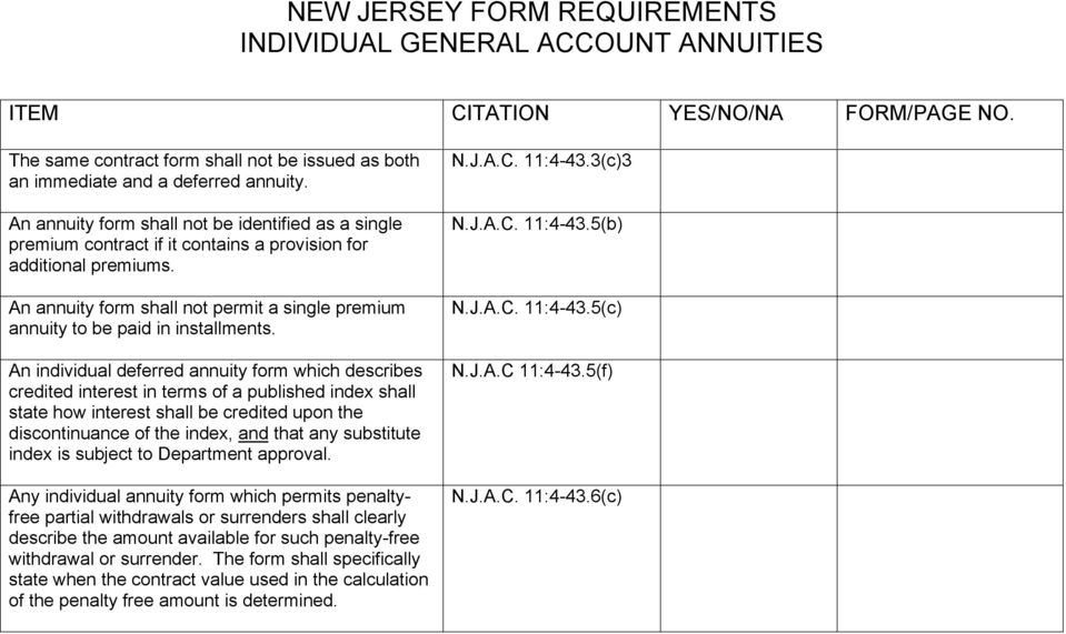 An annuity form shall not permit a single premium annuity to be paid in installments.