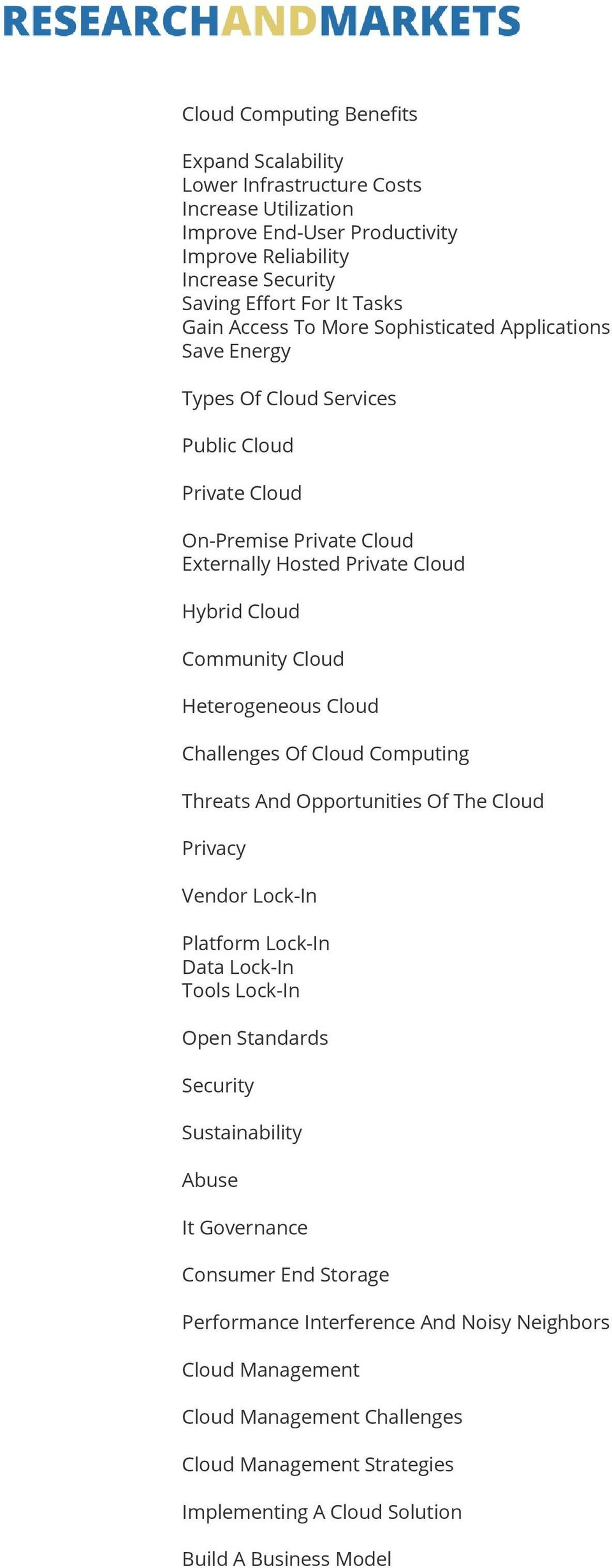 Heterogeneous Cloud Challenges Of Cloud Computing Threats And Opportunities Of The Cloud Privacy Vendor Lock-In Platform Lock-In Data Lock-In Tools Lock-In Open Standards Security Sustainability