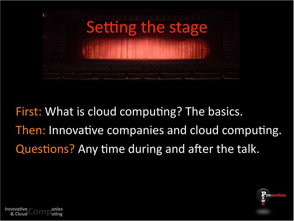 Then: Innov=ve compnies nd cloud