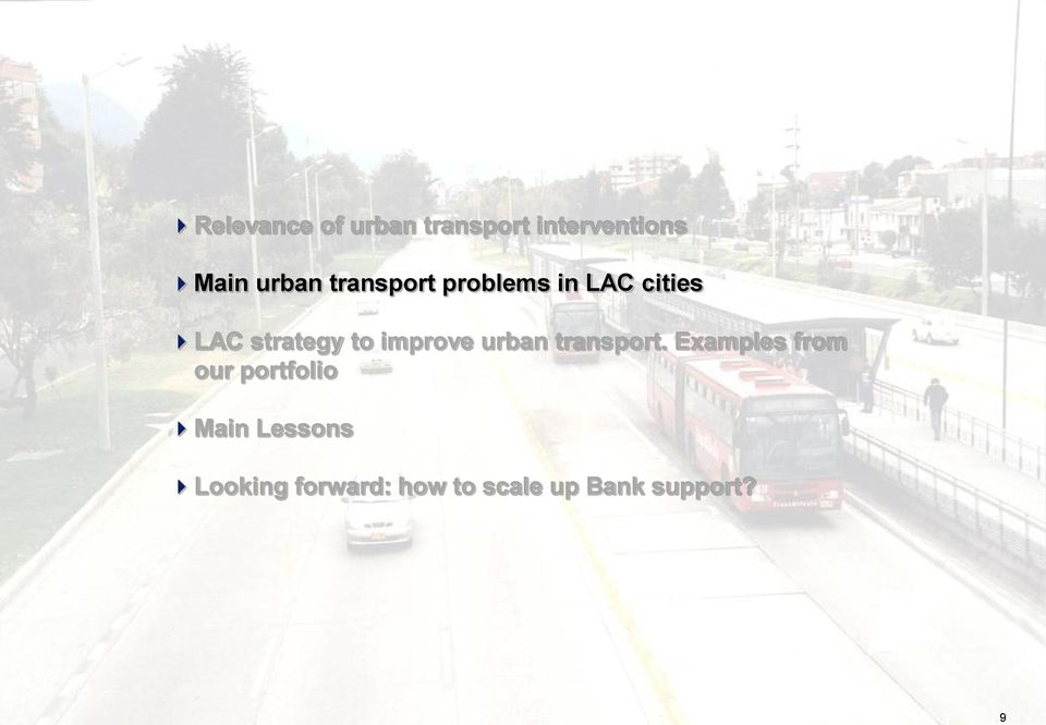 improve urban transport.