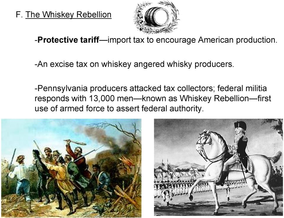 -Pennsylvania producers attacked tax collectors; federal militia responds