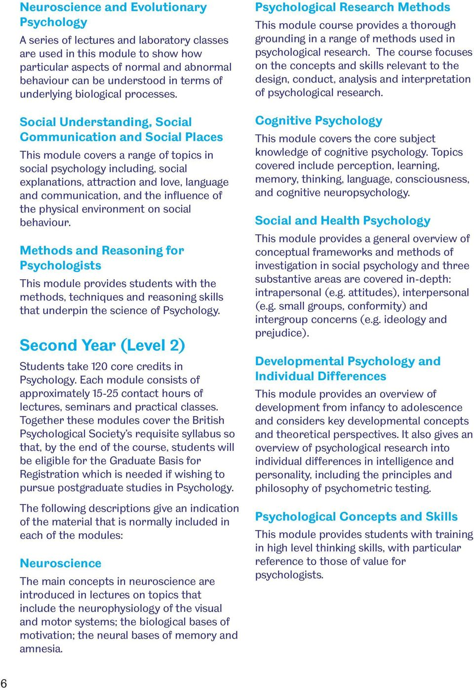 Social Understanding, Social Communication and Social Places This module covers a range of topics in social psychology including, social explanations, attraction and love, language and communication,