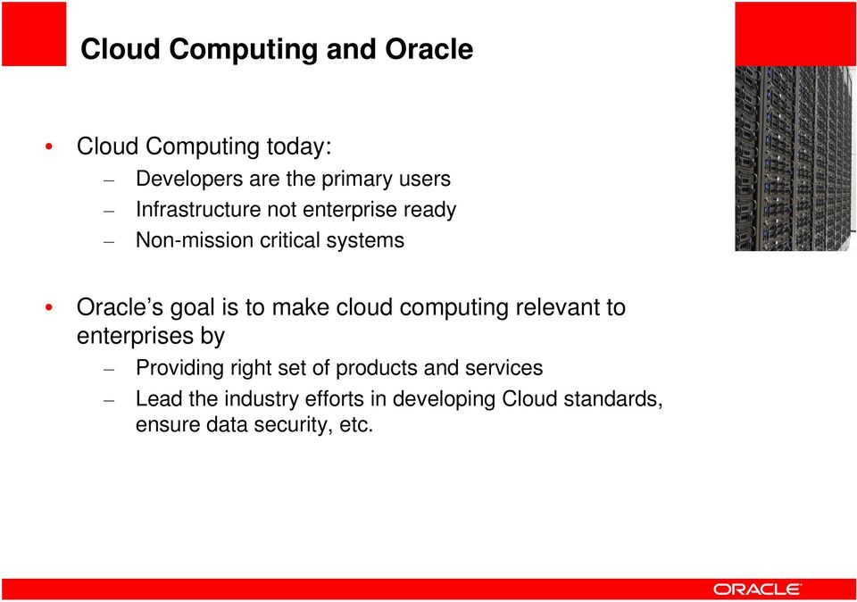 make cloud computing relevant to enterprises by Providing right set of products and