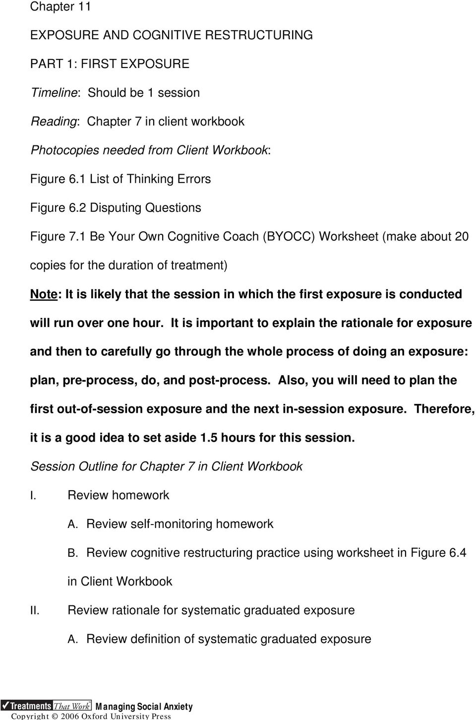 Figure 7 1 Be Your Own Cognitive Coach Byocc Worksheet Make About