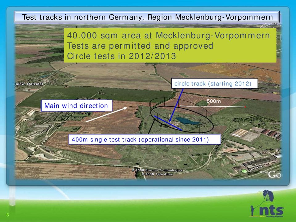 approved Circle tests in 2012/2013 circle track (starting 2012)