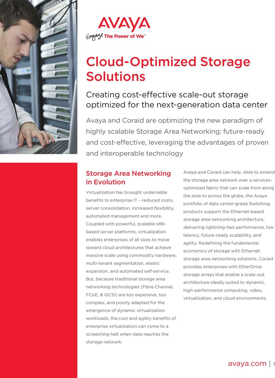 to enterprise IT reduced costs, server consolidation, increased flexibility, automated management and more.