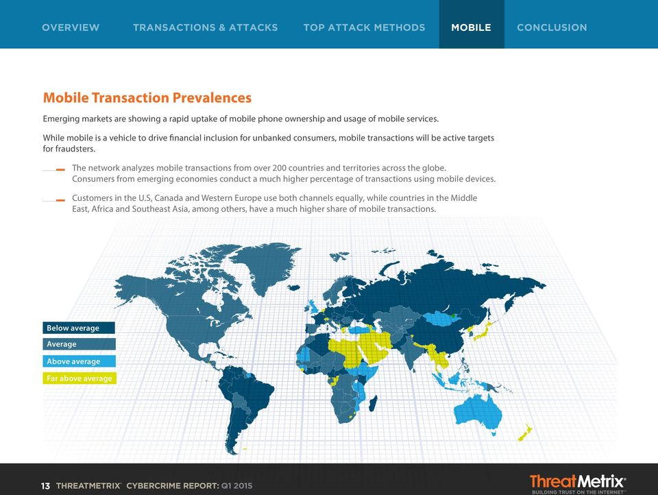 The network analyzes mobile transactions from over 200 countries and territories across the globe.