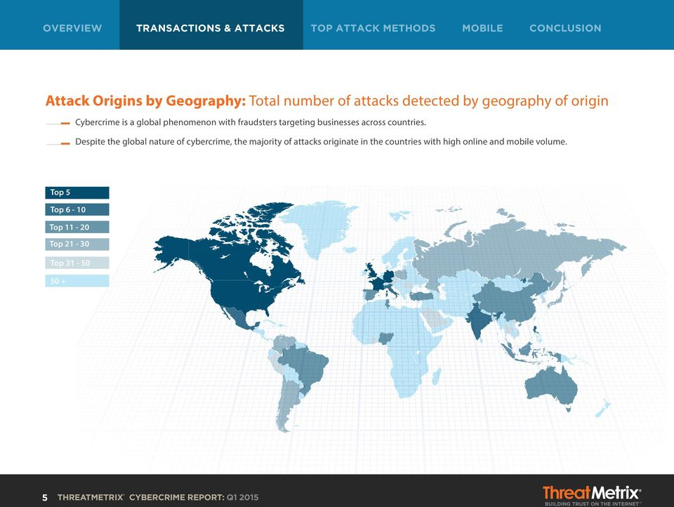 Despite the global nature of cybercrime, the majority of attacks originate in the countries with