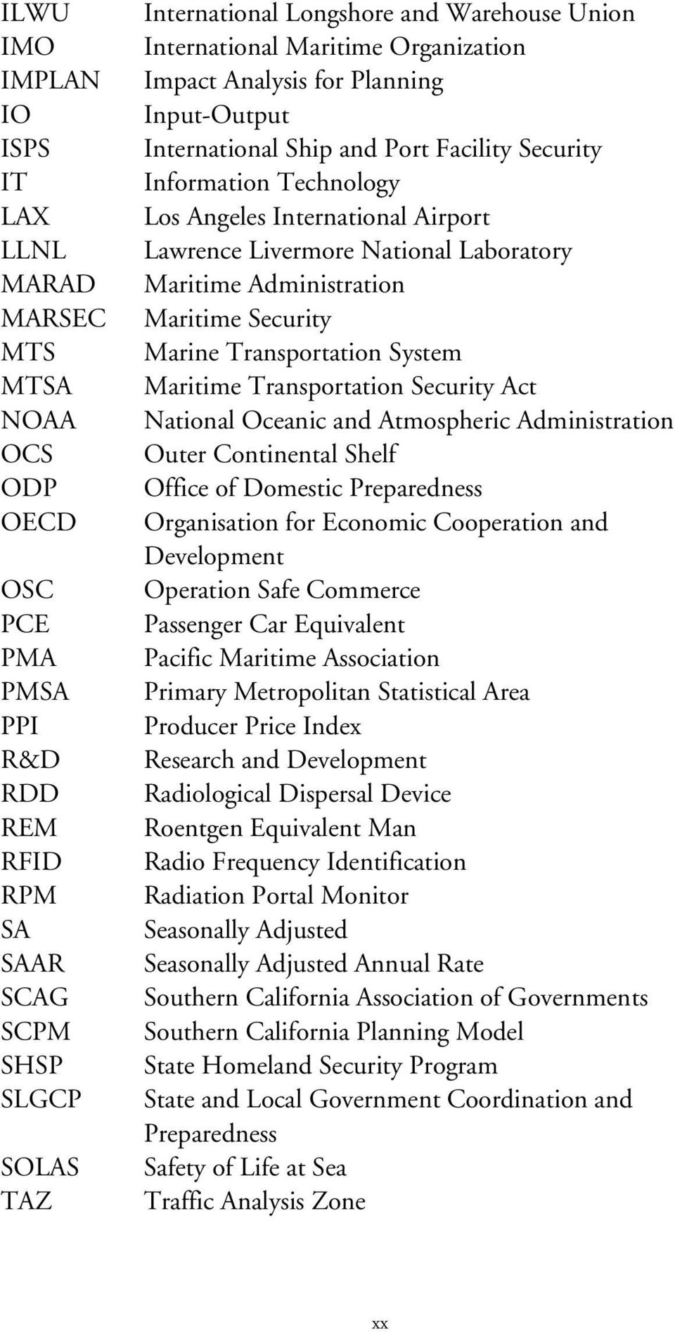 Livermore National Laboratory Maritime Administration Maritime Security Marine Transportation System Maritime Transportation Security Act National Oceanic and Atmospheric Administration Outer