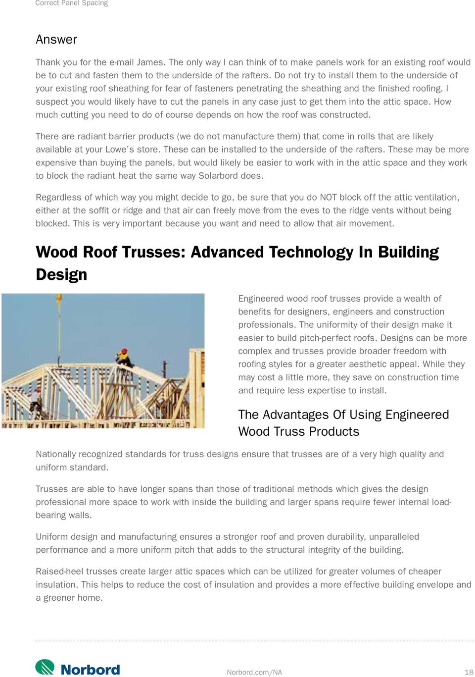 Roof Tips  Norbord com/NA - PDF