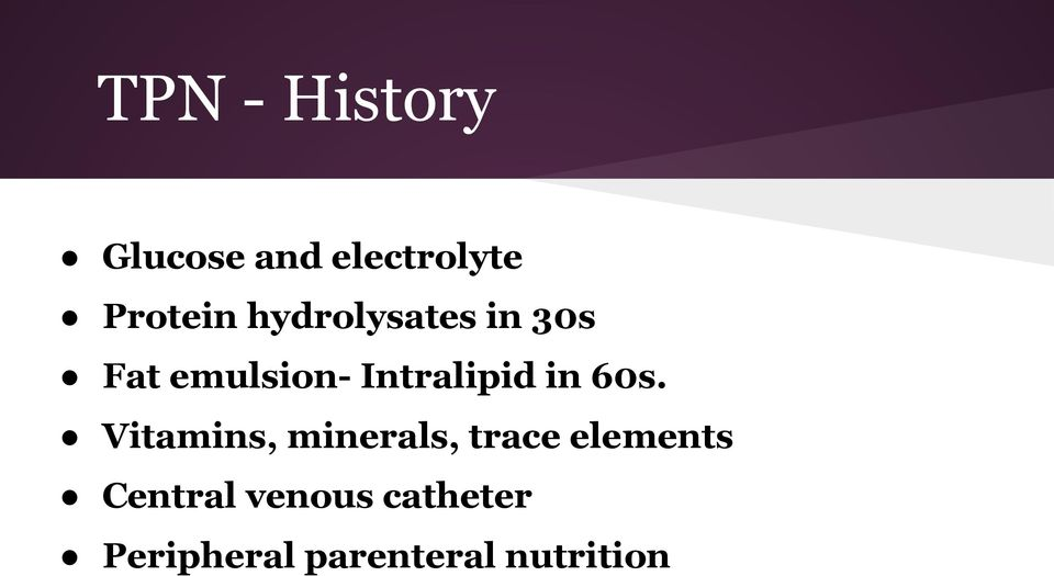 60s. Vitamins, minerals, trace elements Central