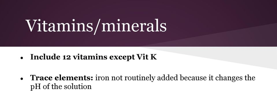 elements: iron not routinely