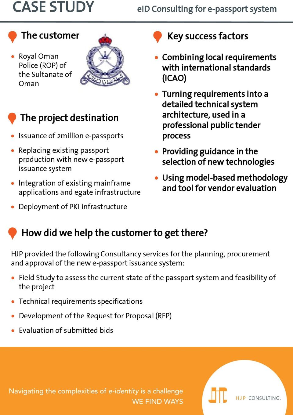 architecture, used in a professional public tender process Providing guidance in the selection of new technologies Using model-based methodology and tool for vendor evaluation Deployment of PKI