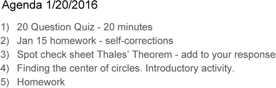 sheet Thales Theorem - add to your response 4)