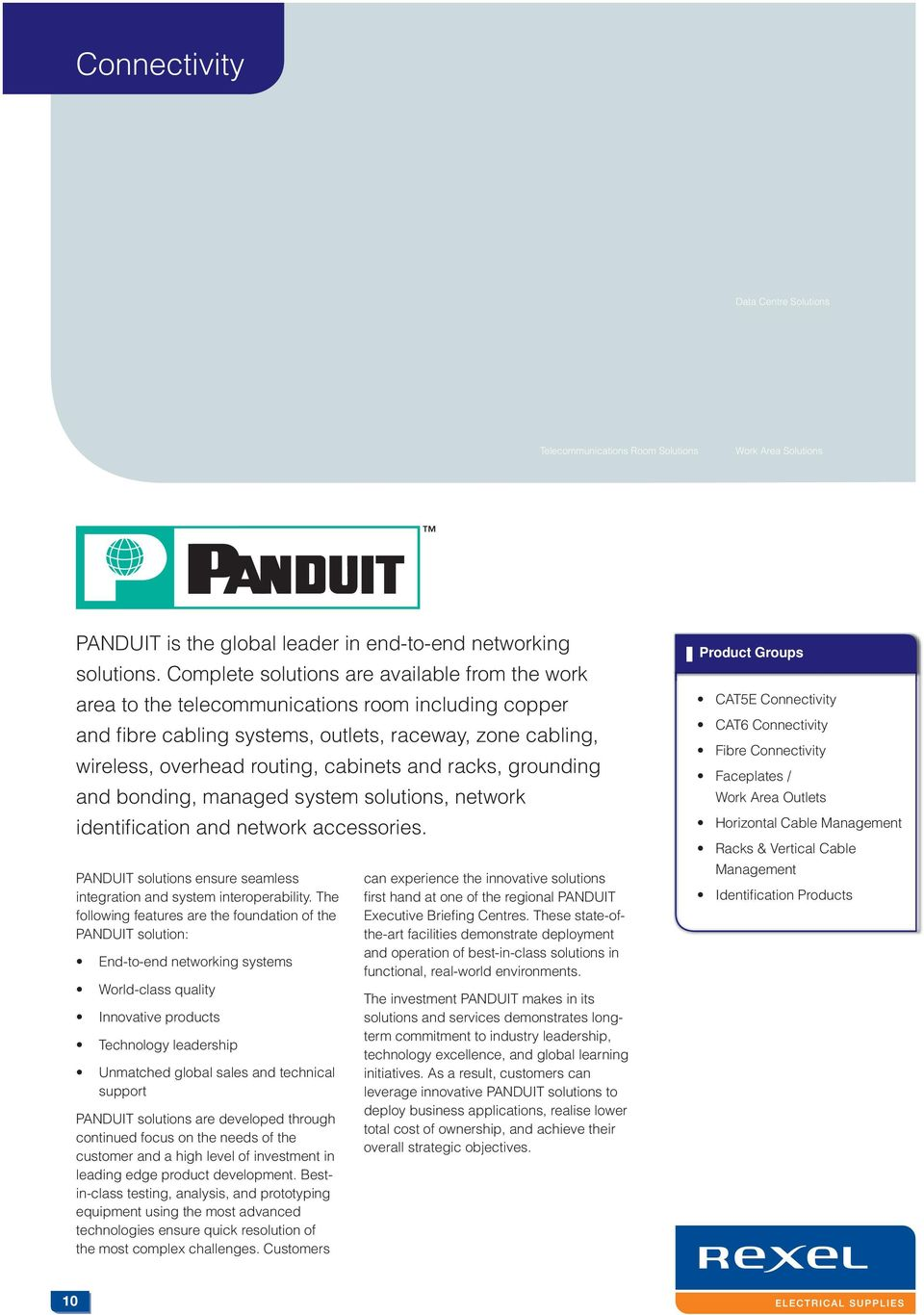 Data Solutions For The Australian Industry With Products From Panduit Rj45 Wiring Diagram And Racks Grounding Bonding Managed System Network Identifi Cation