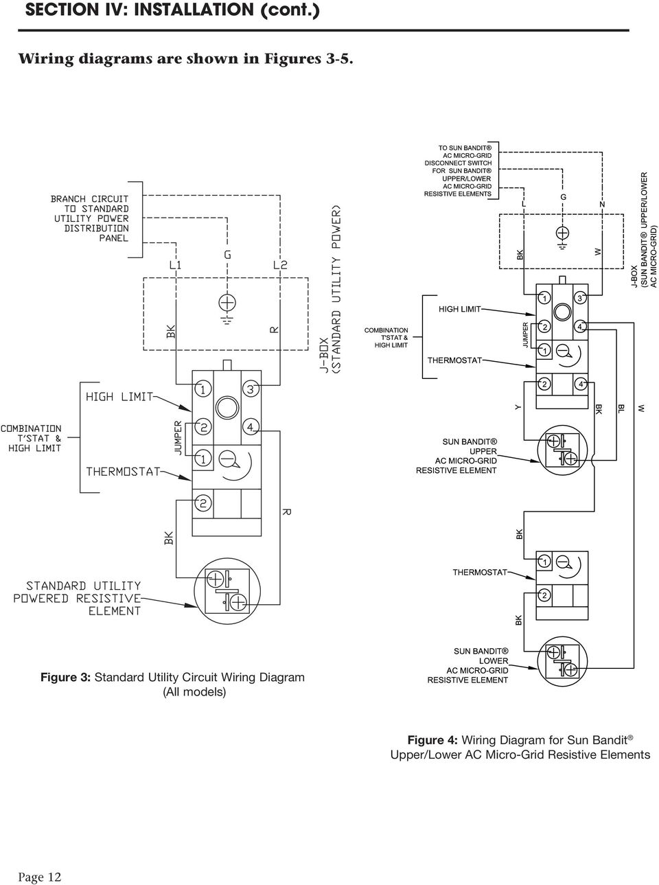 Figure 3: Standard Utility Circuit Wiring Diagram (All