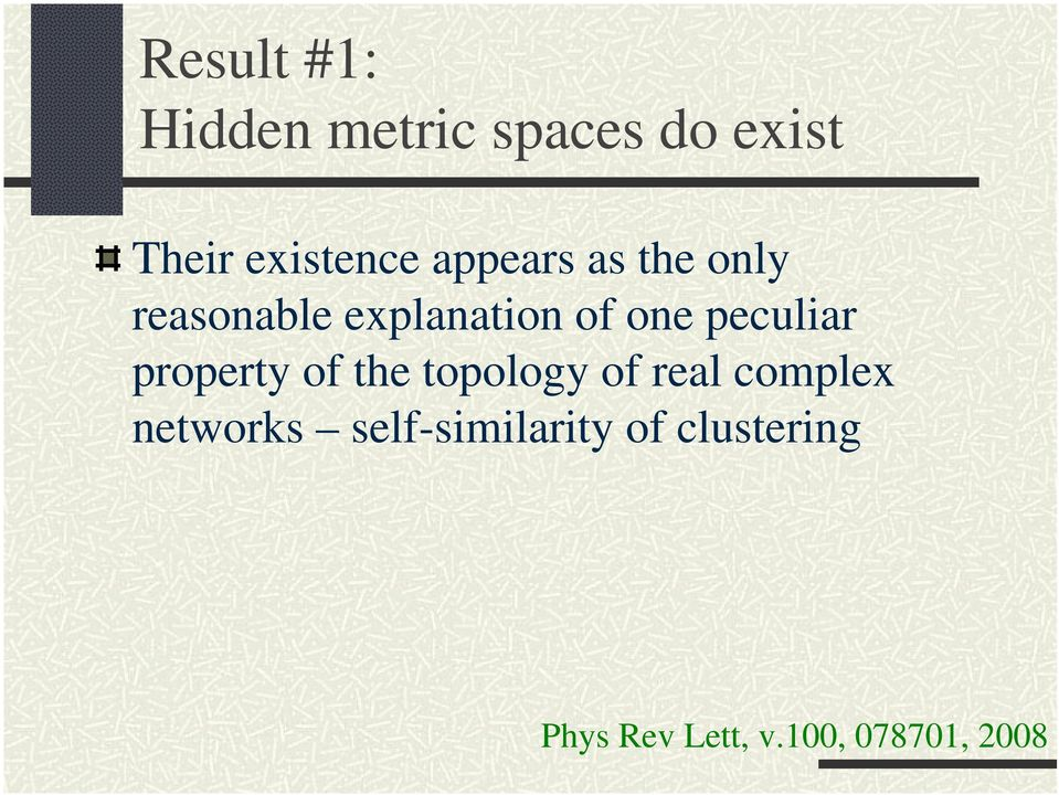peculiar property of the topology of real complex