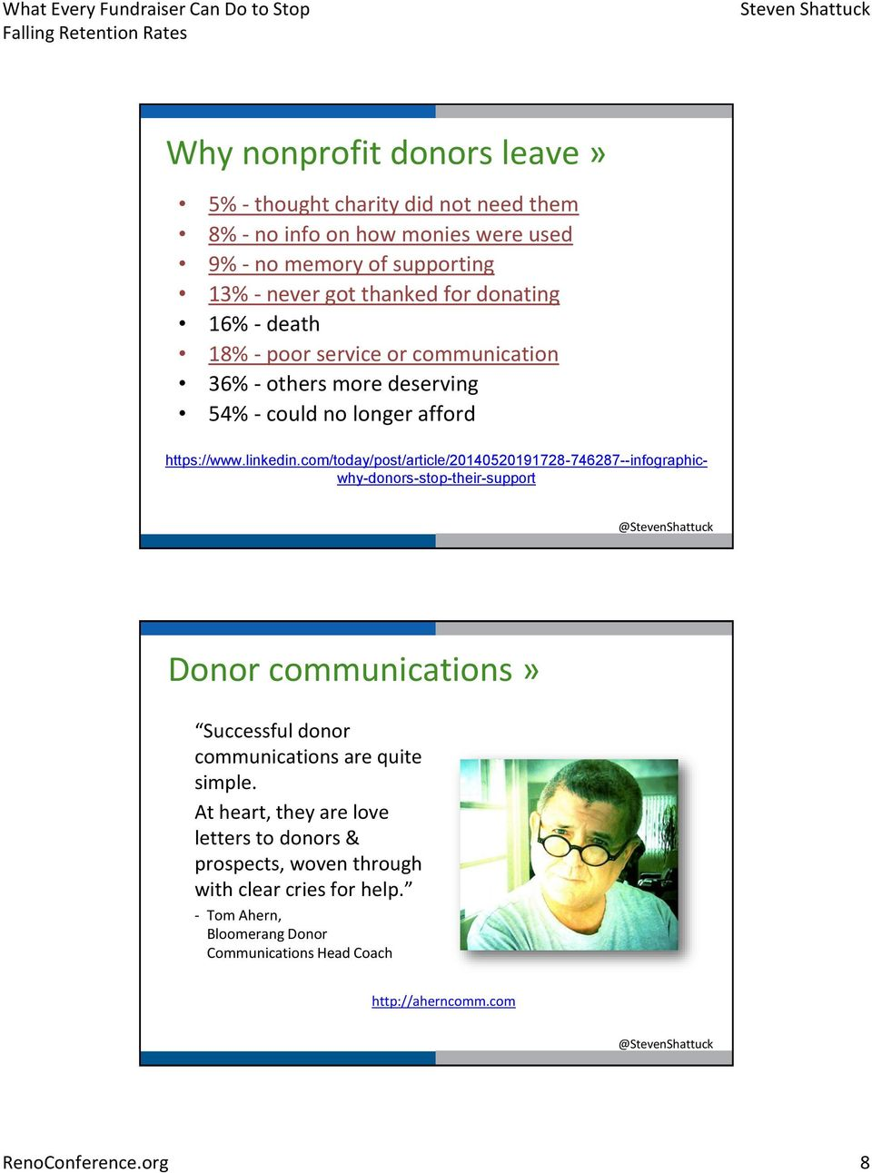 com/today/post/article/20140520191728-746287--infographicwhy-donors-stop-their-support Donor communications» Successful donor communications are quite simple.