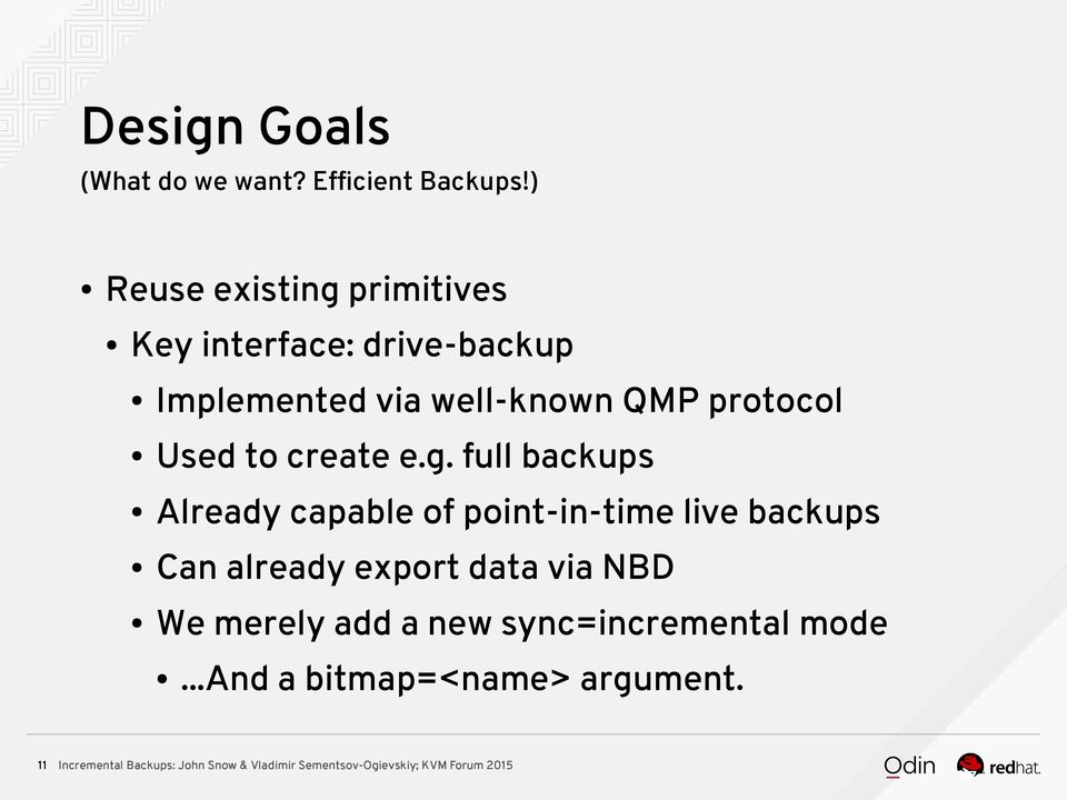 QMP protocol Used to create e.g.