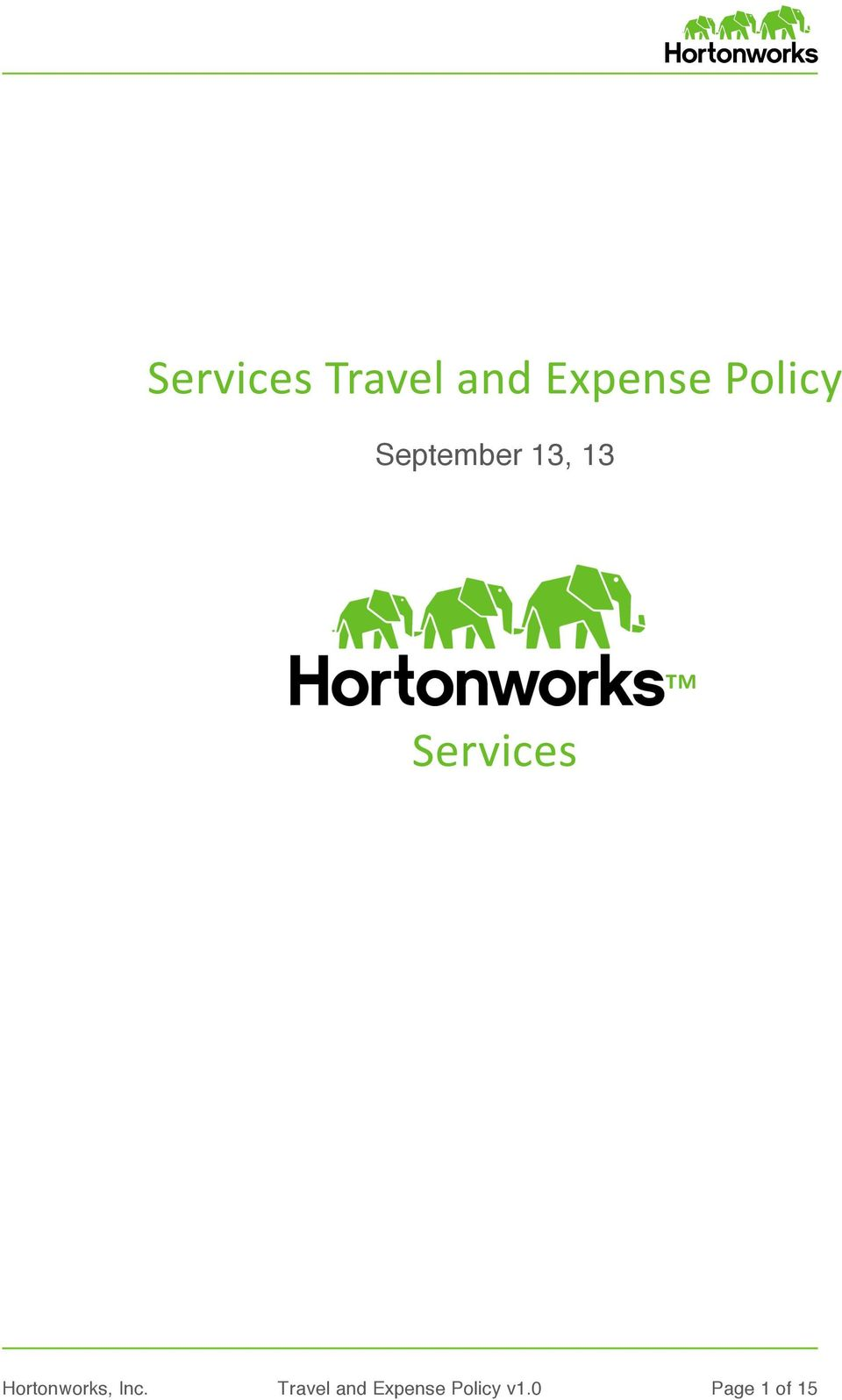 Services Hortonworks, Inc.
