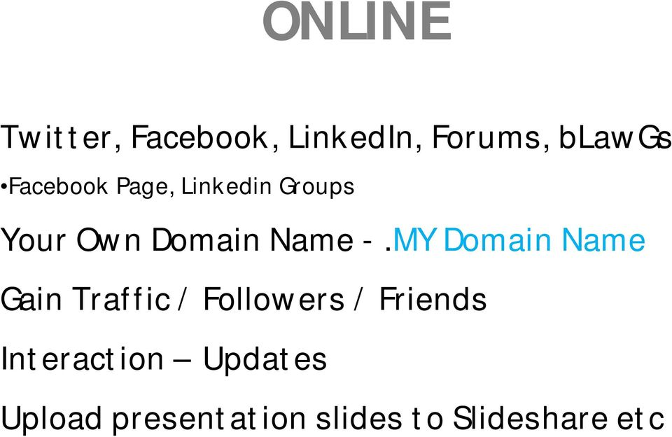 MY Domain Name Gain Traffic / Followers / Friends