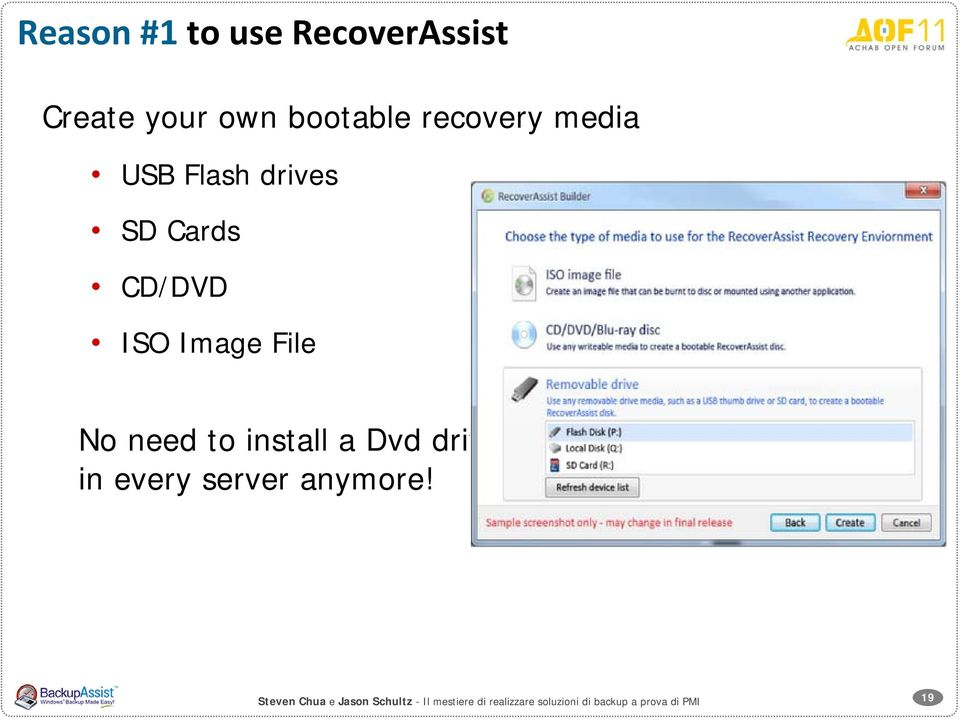 install a Dvd drive in every server anymore!