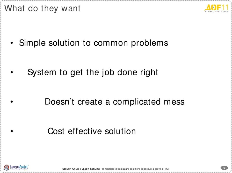 complicated mess Cost effective solution Steven Chua e