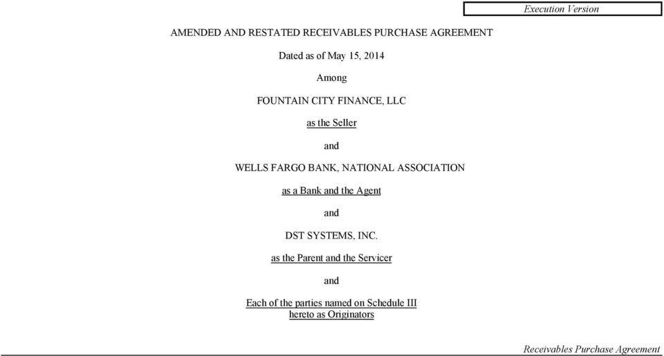 ASSOCIATION as a Bank and the Agent and DST SYSTEMS, INC.