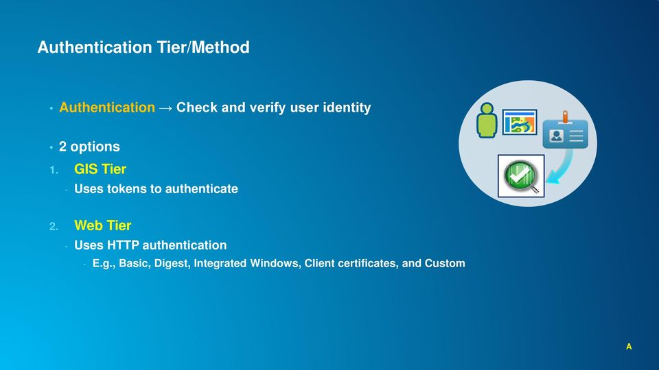 GIS Tier - Uses tokens to authenticate 2.