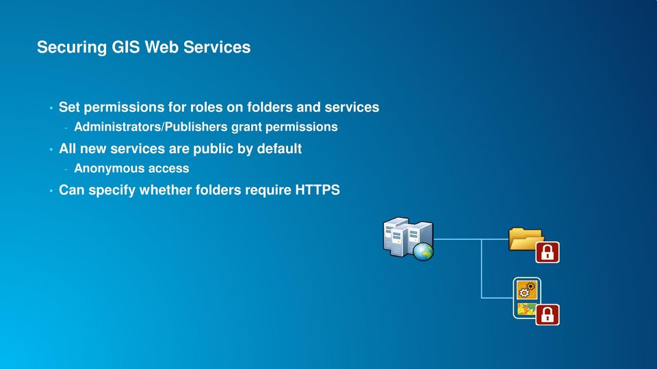 permissions All new services are public by default -