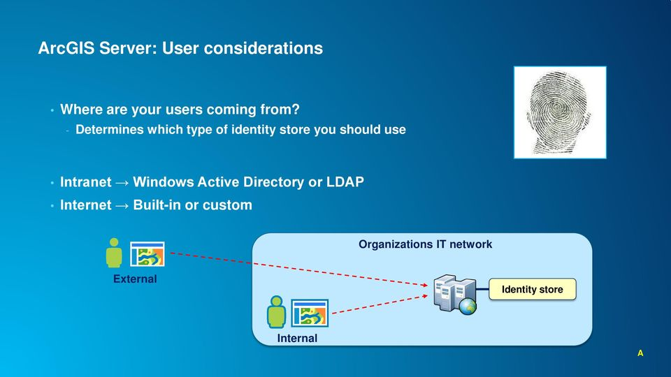 Intranet Windows Active Directory or LDAP Internet Built-in or