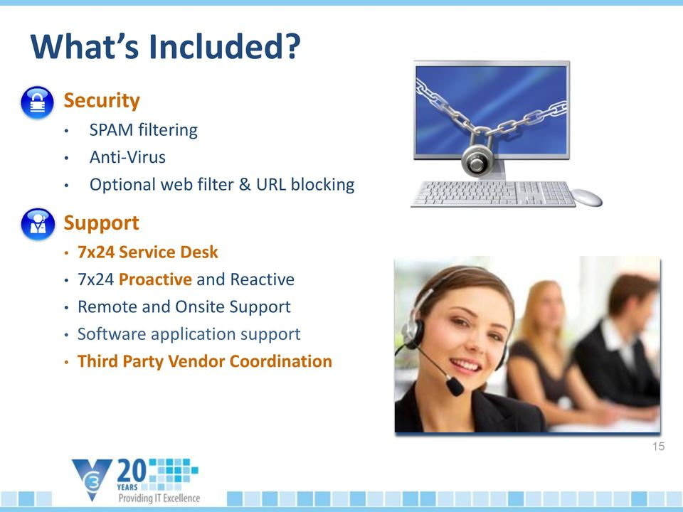 URL blocking Support 7x24 Service Desk 7x24 Proactive and